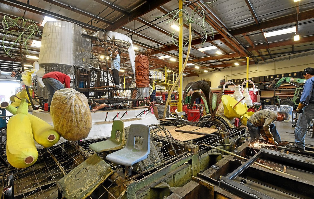 Irwindale Rose Parade float company perfecting movements ahead of New Year's Day