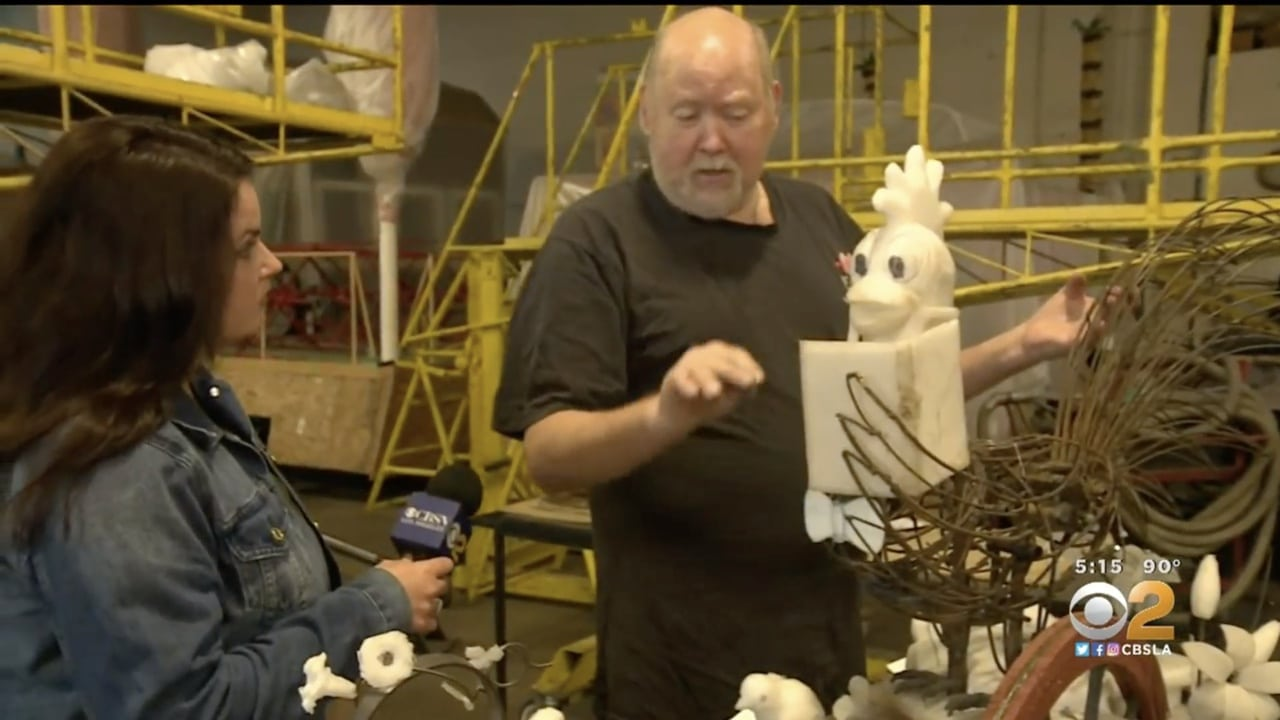 Tournament Of Roses Parade Floats Go On Test Drive In Irwindale Saturday
